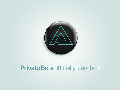 Private Beta portfolio app design webdesign beta triangly
