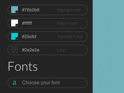 Portfolio customization sidebar menu customization colors fonts portfolio