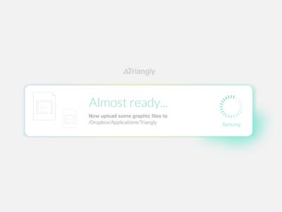 Almost ready... triangly portfolio dropbox design