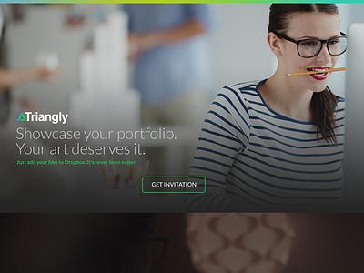 New Triangly website web triangly portfolio dropbox webdesign landing app art