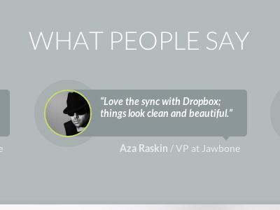 Testimonials design website triangly testimonials portfolio dropbox design webdesign
