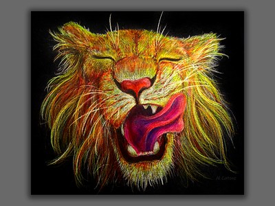 Sunny young lion