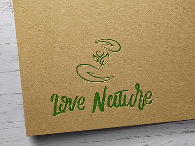 Love Nature logo branding design green vector logo vector art vector nature logo nature logo design logotype logo