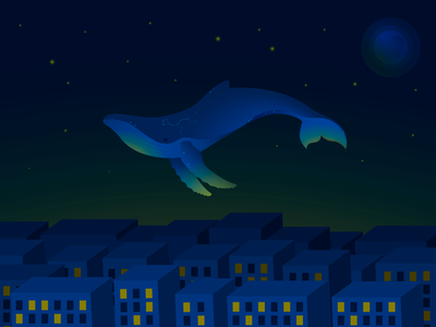 Whale dream blue gradient stars blue whale constellation star urban art urban city whale artist artwork vector art adobe illustrator vector illustration art vector illustrator illustration