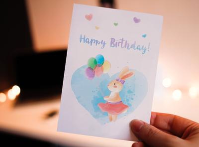 Greeting card - Bunny