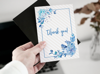 Greeting card - Blue flowers
