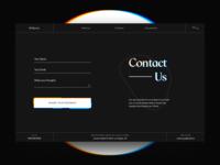 Contact Form Experimental Glitch Design