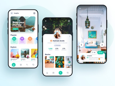 Inzpire figma inspiration photo iphone ios clean app ui ux android