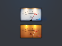 Audio UI - VU meter