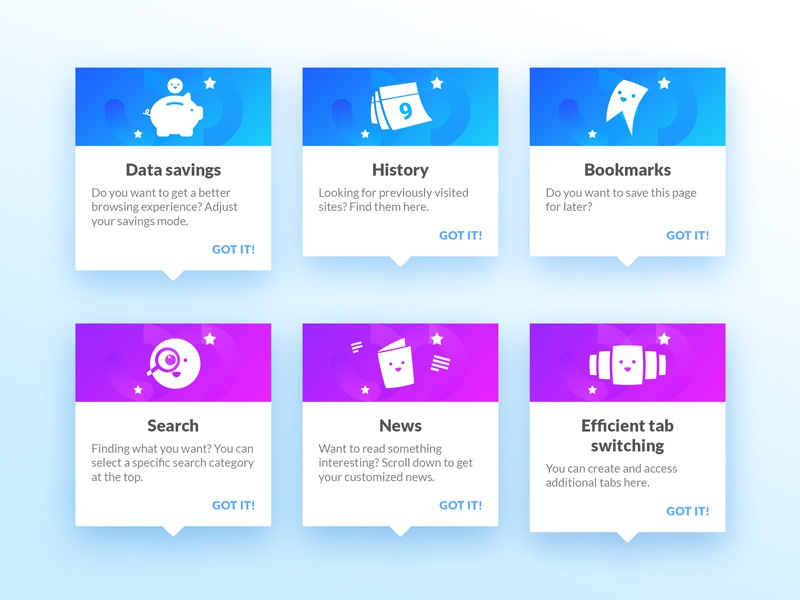 User Hints by Anders Bjarnle for Opera on Dribbble