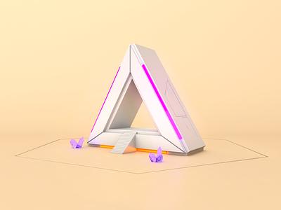 Portal to nowhere c4d render polygon model 3d cinema 4d