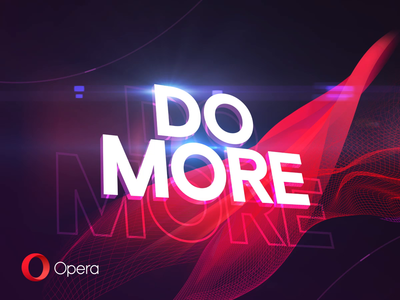 DO MORE logo intro gif motion design video advertising promo opera animation after effects motion