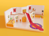 Super Mario 64 Castle mario render after effects polygon lowpoly low poly animation 3d blender b3d