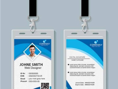 Company ID Card Design Download Free Vector card design psd template templates cdr free vectors company id card design