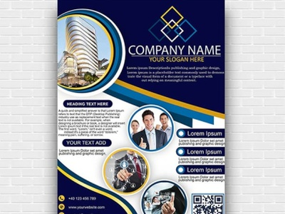 Corporate Business Flyer Template PSD Free Download psd 2020 design flyer template flyer design brochure template psd template vector illustration