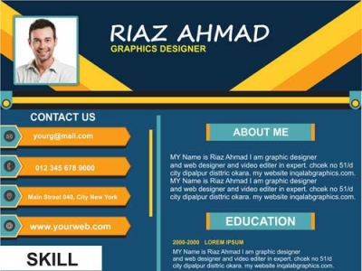 Cv Vector Resume Design Templates By Riaz Jani On Dribbble