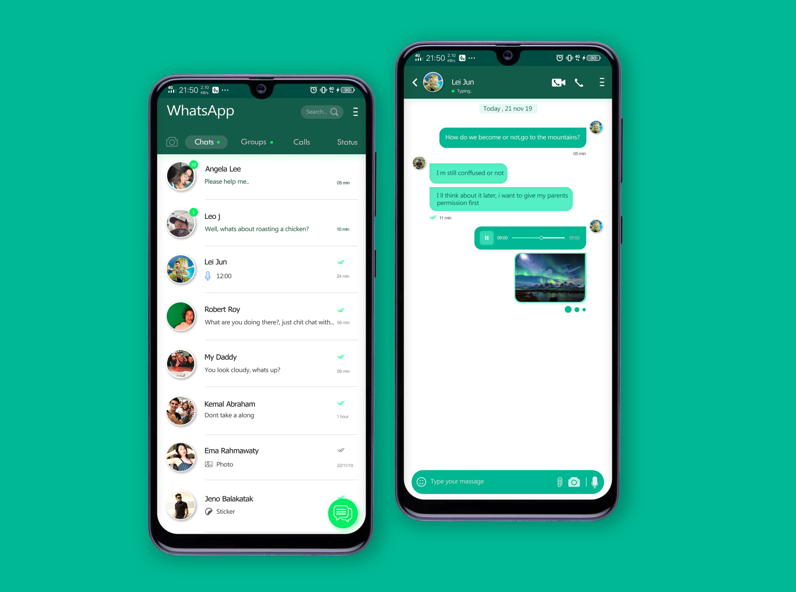 New my concept whatsapp 2020 by Suandi, S.kom on Dribbble