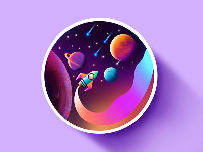 space 🚀🌠 illustration in iPad pro starwars space galaxy paint star ipadproart how to create digitalart apple procreate flatillustration