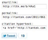 2011-061 Falcon blog links/embeds shortlink permalink citation hypertext hyperlink copy copypaste embed tweet tweetbutton falcon