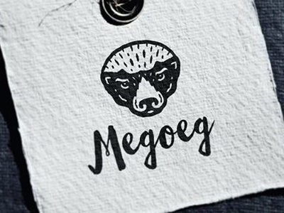 Медоед / Honey Badger label brend clothes melivora honeybadger hipsterstyle animal vector character logotype logo