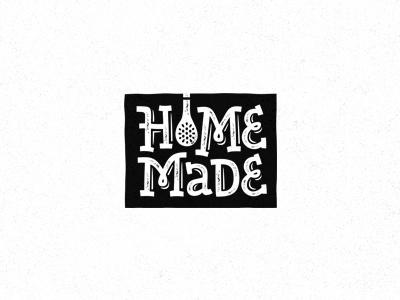 HomeMade vector homemade lettering food setfordinner cooking kitchen tools bottle gravy logotype logo