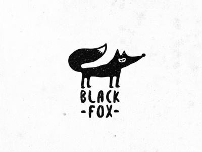 black fox logotype logo illustration fox ethno style ethnic dreamy character