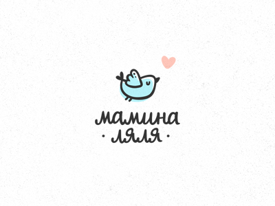 Мамина Ляля logo logotype bird baby newborn photography photostudio cute child business card