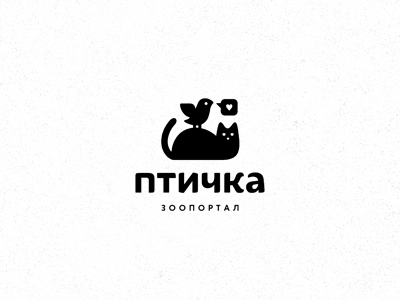птичка pets zoo animals bird cat logotype logo