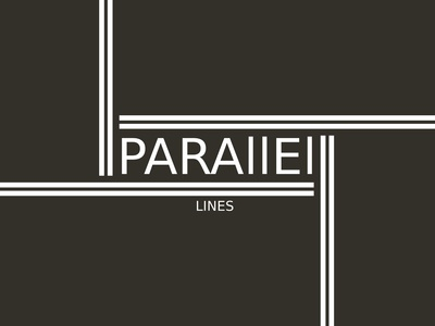 Parallel Lines Minimalist Logo Design Concept
