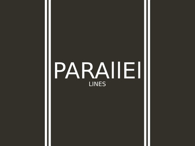 Parallel Lines(White Vertical) Minimalist Logo Design Concept