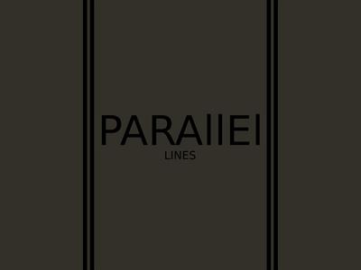 Parallel Lines (Black Vertical) Minimalist Logo Design Concept