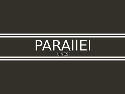 Parallel Lines(White Horizontal) Minimalist Logo Design Concept