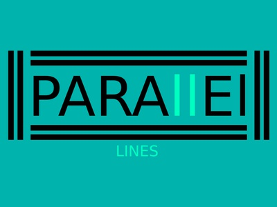 Parallel Lines (Black & Blue) Minimalist Logo Design Concept