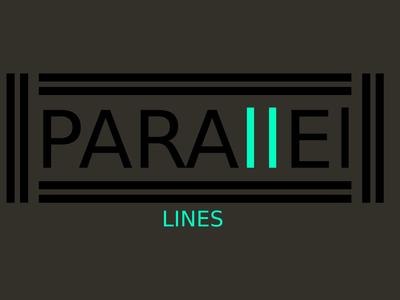 Parallel Lines (Black & Blue) Minimalist Logo Design Concept