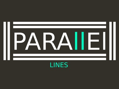 Parallel Lines (White & Blue) Minimalist Logo Design Concept