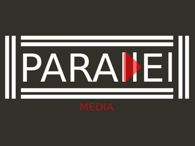 Parallel Media (White)  Minimalist Logo Design Concept