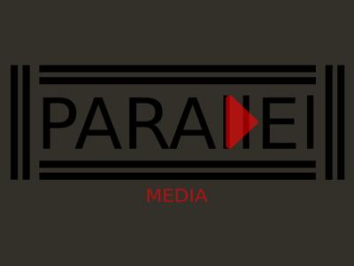 Parallel Media (Black) Minimalist Logo Design Concept