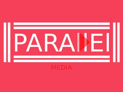 Parallel Media (White and Red)  Minimalist Logo Design Concept