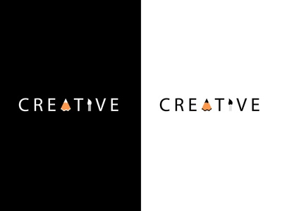 Creative Logo Mark (Pencil Cut Waste and Art Brush)