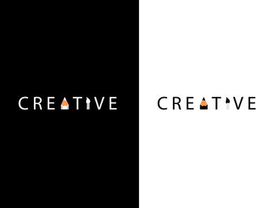 "Creative Logo Mark (Pencil Top ""Sharp Point"" and Art Brush)"