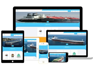 Shipping Co Logo / Responsive Website Design(UX/UI) and More