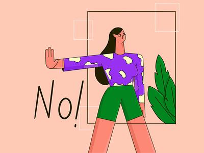 No means no! flat  design flat character flatdesign adobe illustrator procreate art freelance illustrator vector illustration flat illustration character illustration 2d art vector characterdesign character design character illustrator behance procreate illustration