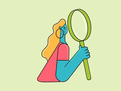 Looking for the truth vector character vector art flat illustration girl character procreate art flat character flat design character illustration girl illustrator vector behance procreate character illustration