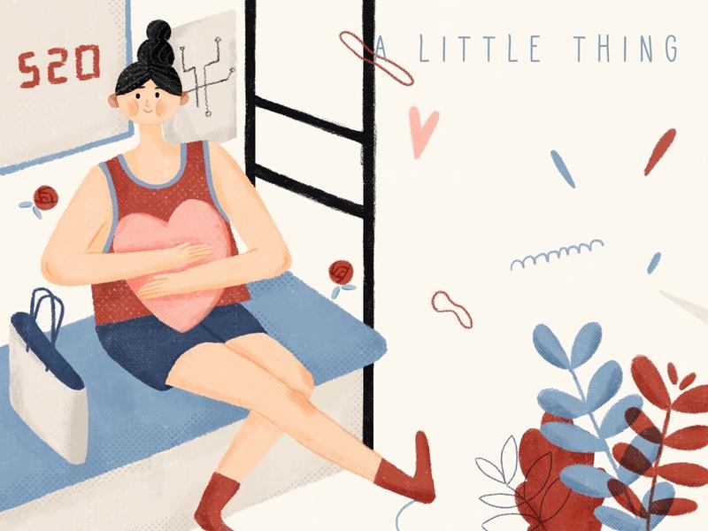 Waiting for love 平面 animation branding design illustration