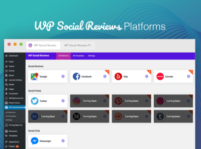 Free WordPress Plugin WP Social Reviews : Platforms reviews social free plugin wordpress design