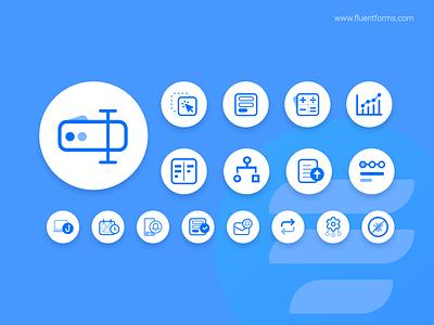 WP Fluent Forms Icons plugin forms fluentforms ux ui vector branding minimal logo flat design
