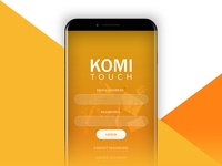 Komi Touch-Digital Banking Mobile App Concept