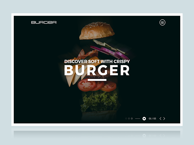 Burger-Web Header flying flying burger black web header burger food