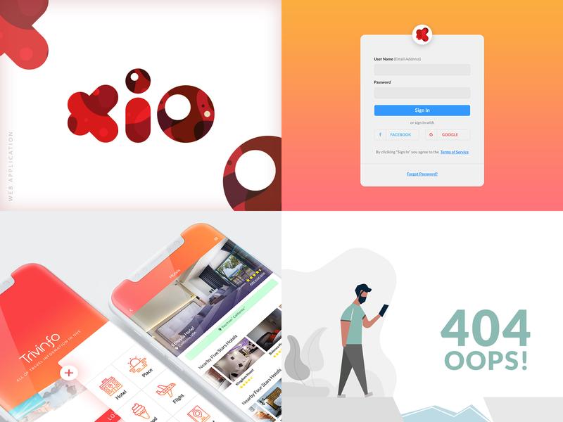 2018 dribbble digital clean character business banner web minimal illustration design