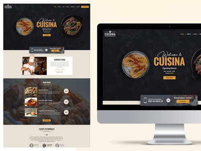 Restaurant WordPress Theme – Cuisina.